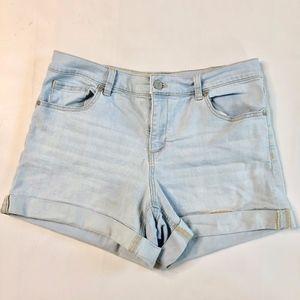 NY & Co Light Wash Jean Shorts